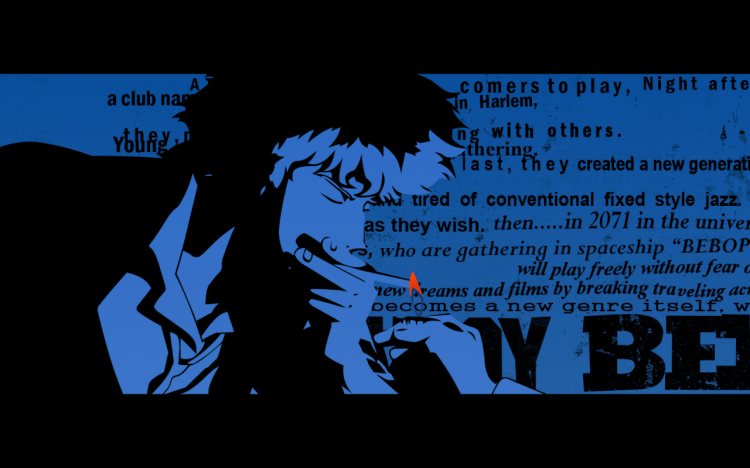 a clip of Cowboy Bebop's Opening theme